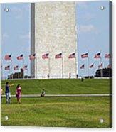 Flags Around Washington Acrylic Print