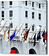 Flags At The Greenbrier Acrylic Print