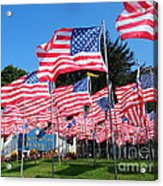 Flags Of Glory Acrylic Print