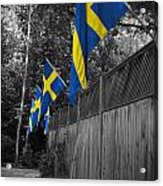 Flags Of Sweden Acrylic Print