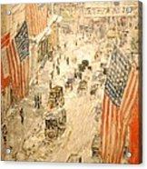 Flags On 57th Street Acrylic Print