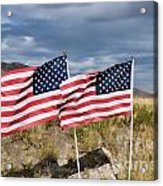 Flags On Antelope Island Acrylic Print