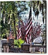 Flags That Stand Acrylic Print