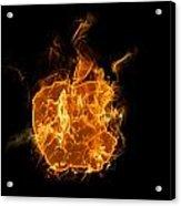 Flame Apple Acrylic Print