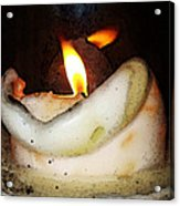 Flame Candle Art Acrylic Print