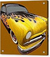 Flame Car Acrylic Print