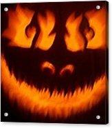 Flame Pumpkin Acrylic Print