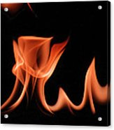Flame With Images Acrylic Print