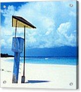 Flamenco Beach And Storm Acrylic Print