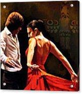 Flamenco Dancer 012 Acrylic Print