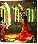 Flamenco Dancer 017 Acrylic Print