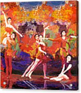 Flamenco Dancer 022 Acrylic Print by Catf