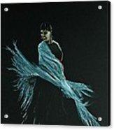 Flamenco Dancer In Shawl Acrylic Print by Martin Howard