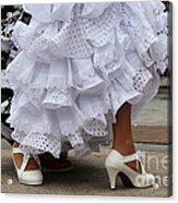 Flamenco Dancer In White Acrylic Print