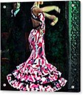 Flamenco Series No. 10 Acrylic Print by Mary Machare