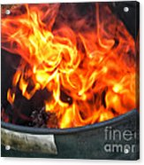 Flames 03 From The Firemen Series Acrylic Print
