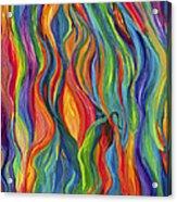 Flames Dancing Acrylic Print