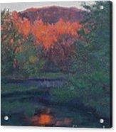 Flames Of Fall At Catfish Corner Acrylic Print