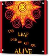 Flaming Celtic Sun Acrylic Print