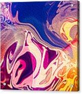 Flaming Colors Acrylic Print