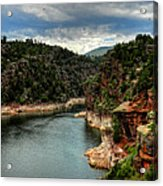 Flaming Gorge - Cart Creek 002 Acrylic Print