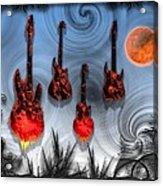 Flaming Guitars Acrylic Print
