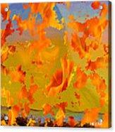 Flaming Indian Girl Sunset Acrylic Print