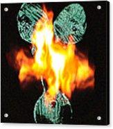 Flaming Personality Acrylic Print