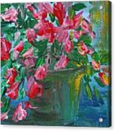 Flaming Pink Flowers Acrylic Print