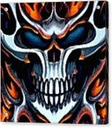 Flaming Skull Acrylic Print