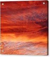 Flaming Sky Acrylic Print