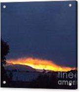 Flaming Sunrise I Acrylic Print