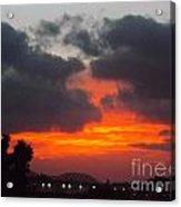 Flaming Sunrise Acrylic Print
