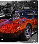 Flaming Vette Acrylic Print