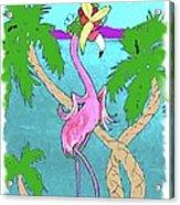 Flamingo Miranda Acrylic Print