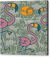 Flamingos Love Acrylic Print