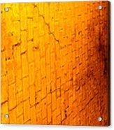 Flamming Brick Wall Acrylic Print