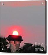 Flashlight Sunset Acrylic Print