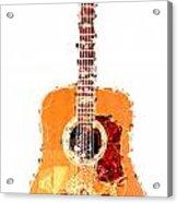 Flashy Guitar Acrylic Print