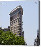 Flat Iron Building Acrylic Print by Bill Cannon