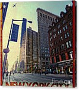 Flat Iron Building Poster Acrylic Print by Nishanth Gopinathan