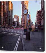 Flatiron Area In Motion Acrylic Print by John Farnan