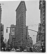 Flatiron Black and White Acrylic Print