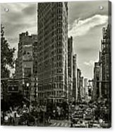 Flatiron Building - Black And White Acrylic Print
