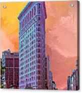 Flatiron Building At Sunset Acrylic Print