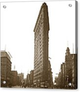 Flatiron Building New York City Circa 1904 Acrylic Print