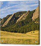 Flatiron Morning Light Boulder Colorado Acrylic Print
