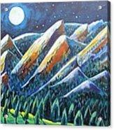 Flatirons In The Moonlight Acrylic Print