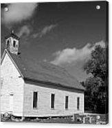 Flatt Rock Church Bw Acrylic Print