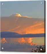 Flattop Sunset Cloud Acrylic Print